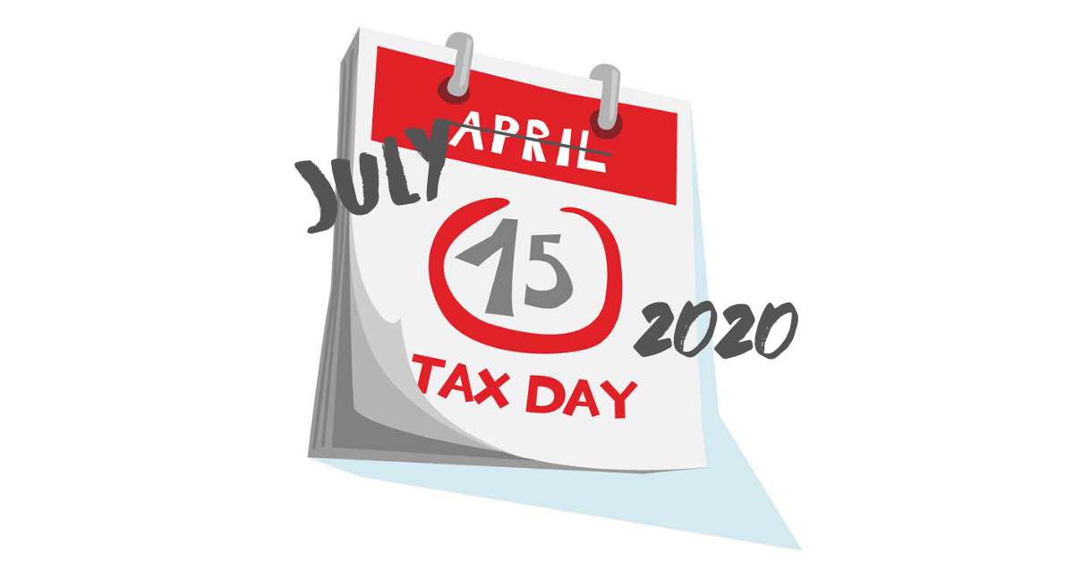 Tax deadlines extended to July 15, 2020
